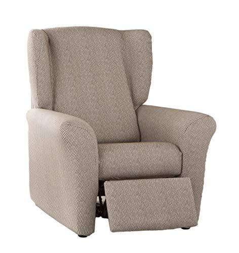 Estoralis ALBI Funda de sofá elástica, Tela, Beige, Sillon Relax