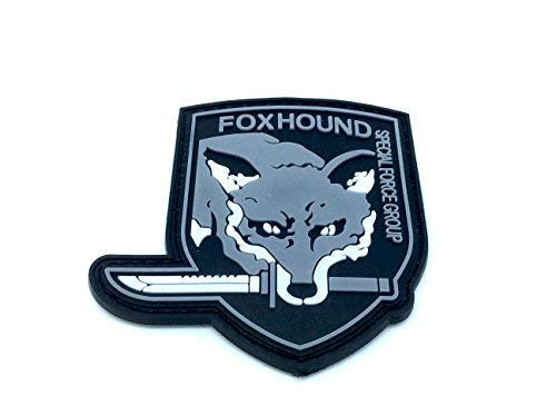 Foxhound Special Force Group Metal Gear Solid Airsoft Klettverschluss PVC Patch Grau