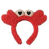 S-TROUBLE Mujeres Niñas Lavarse la Cara Diadema de baño Patas de Cangrejo pequeño Ojos Grandes Aro de Felpa Bandana Maquillaje SPA Yoga Deportes Accesorios para el Cabello