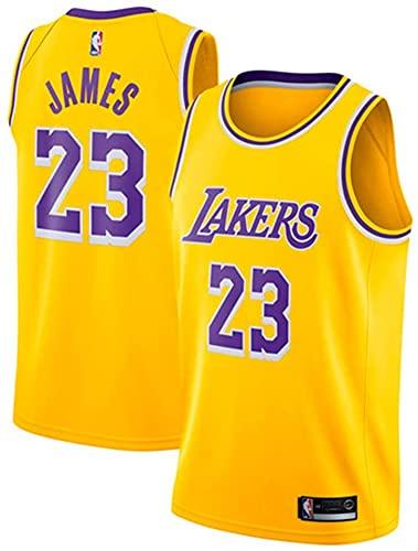 DIMOCHEN Movement Ropa Jerseys de Baloncesto para Hombres, NBA Lakers 23 James, Fresco, cómodo, Camiseta Uniformes Deportivos Tops(Size:XXL,Color:G1)