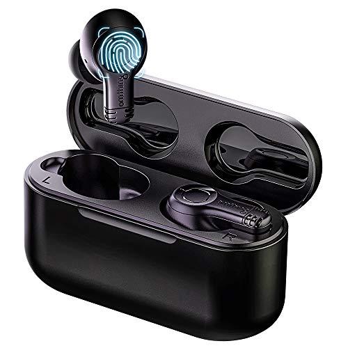 omthing Kopfhörer Bluetooth im Ohr, kopfhörer kabellos mit Mikrofonen, Ohrhörer True Wireless und Tragbare Ladekoffer, Touch Control Earbuds, Ergonomische Passform, 20 Stunden Spielzeit von 1MORE