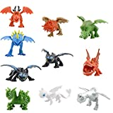 MC TTL 10 Pcs How to Train Your Dragon Dragon Toys Mini Figures, PVC Dragon Toys Mini Figures Toy, How to Tame Your Dragon-themed Party Supplies - Cake Topper.