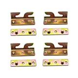 FarBoat 4Sets Bed Hinges Bed Rail Brackets 3.1' Double Hooks Heavy Duty Iron Replacement Part for Bed Frames...