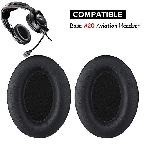 A20 Almohadillas de repuesto para audífonos compatibles con auriculares Bose A20 / A10 Aviation