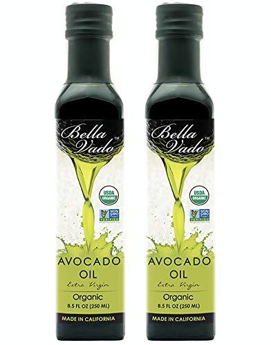 Pack of 2 - Bella Vado Avocado Oil, USDA Organic, 8.5 Fl Oz