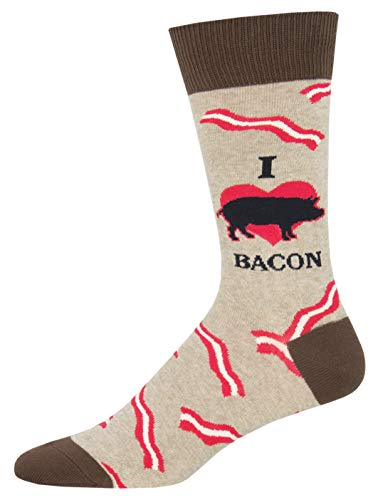 Socksmith Mmm Bacon Hemp Heather 10-13 (Men's Shoe Sizes 7-12.5)