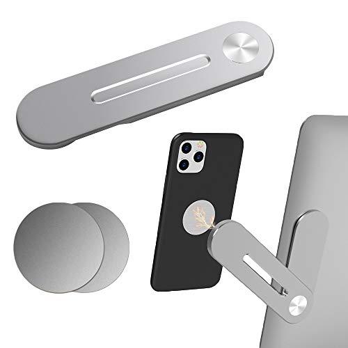AODOOR Soporte para teléfono móvil y tableta, color blanco, soporte para smartphone con ajustable, plegable para teléfonos móviles y accesorios, soporte de mesa portátil, soporte universal