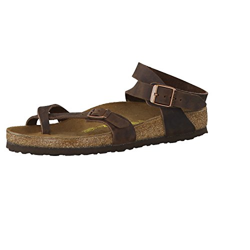 Birkenstock Yara Flip Flops Leather Habana