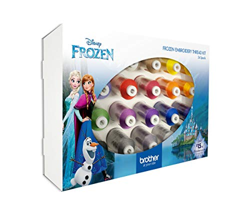 Best Bargain Brother Disney Frozen Embroidery Thread 24 Pack, Multi