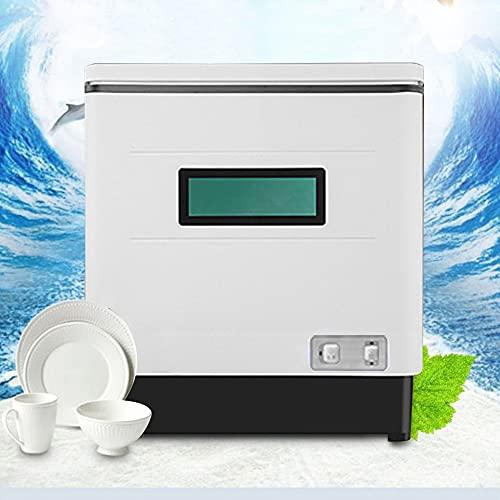 Geschirrspüler Tischgeschirrspüler Mini Spülmaschine Geschirrspülmaschine 1500W Kompakter Tischspülmaschine Vollautomatische System, UV-Sterilisation, 12L Wasserverbrauch