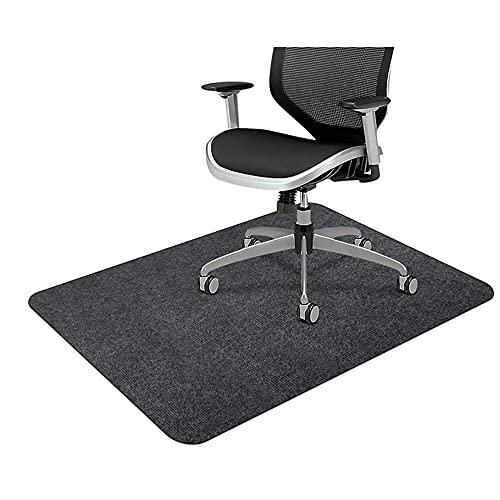 Beada Alfombrilla para silla para suelos duros, 150 x 95 cm, protector de silla para suelos de madera dura, alfombra de escritorio para oficina en casa, color gris oscuro