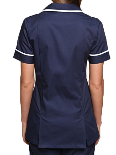 Women's Nightingale Healthcare Tunic Uniform Navy-White 20 UK