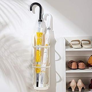 Porte-Parapluie Mural Porte-Parapluie Pliant Avec Bac Collecteur Pour Couloir De Bureau À Domicile,Blanc