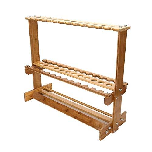 JKLL Angelrute Rack Metall Aluminiumlegierung Angelrute Organizer Tragbare Angelrutenhalter für Alle Art Angelrute, Halten Bis zu 38 Ruten (Farbe: Holz Farbe, Größe: 76 * 28 * 63 cm)