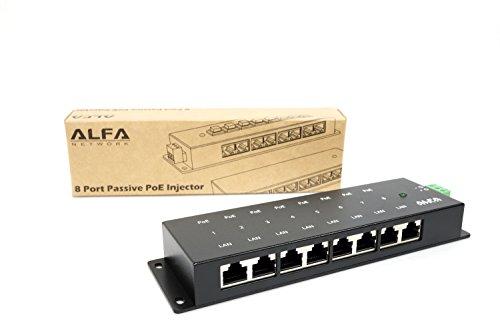 Alfa network - PoE pasivo apoe08g - 8 Puertos gigabit