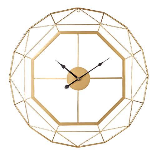 ZUJI 60CM Wanduhr Lautlos Dekorativ Skelett Uhr Groß XXL Antike Wanduhr in Eisen