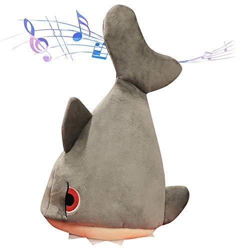 sanguiner Cappello da Ballo di Musica elettrica, Peluche di Peluche Carino Cappello Regolabile con Motivo a squalo Divertente Regali di...