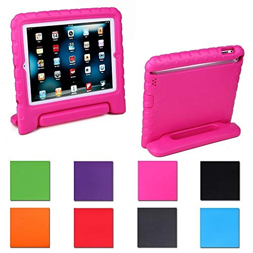 Aken Multi Function Child / Shock Proof Kids Cover Case with Stand / Handle for Apple iPad 2nd / 3rd / 4th Generation Tablet (iPad 2/3/4) (Rose)