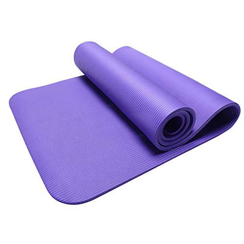 Best Bargain Seaintheson 15MM Thick Durable Yoga Mat Non-Slip Exercise Fitness Pad Mat Lose Weight S...