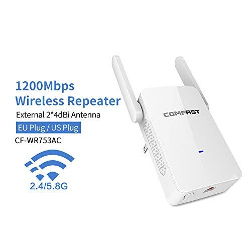 1200Mbps Amplificador de Doble Banda de 2,4 GHz + 5 Wireless Router WiFi de Alta Potencia WiFi Repetidor WiFi Extender de Largo Alcance WLAN WiFi de