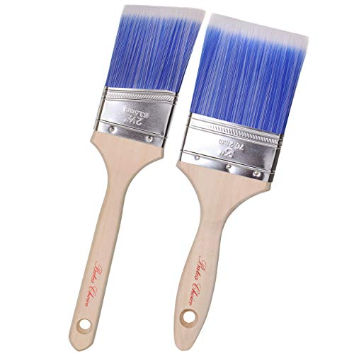 Bates Paint Brushes- 2 Pack, Wood Handle, Paint Brush, Paint Brushes Set, Professional Brush Set, House Paint Brush, Trim Paint Brush, Sash Paint Brush