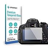 smartect Cristal Templado para Móvil Canon EOS 700D / 750D / 70D / Rebel T5i [MATE] - Protector de pantalla 9H - Diseño ultrafino - Instalación sin burbujas - Anti-huella
