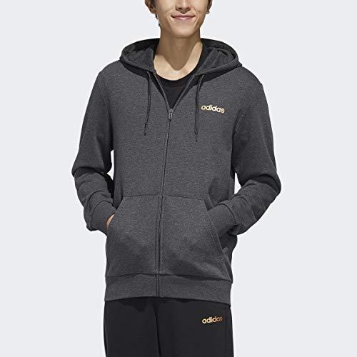 adidas Originals M Ess Br Fz, Dark Grey Heather/Black/Copper Metallic, X-Large