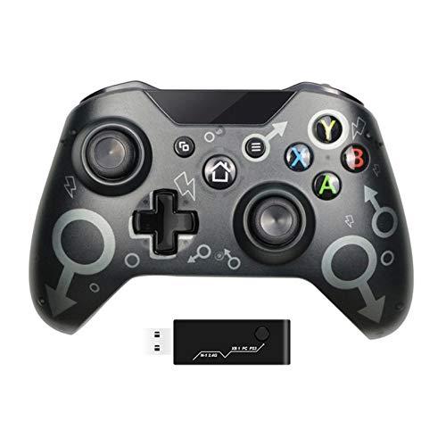 JINQII Xbox One Wireless Controller, com Adaptador Sem fio 2.4GHZ Gamepad, 8 Horas de Diversão do Jogo Compatível com Xbox One/One S/One X/P3/Windows