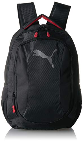 PUMA Men's Equivalence Backpack, black/Red, One Size