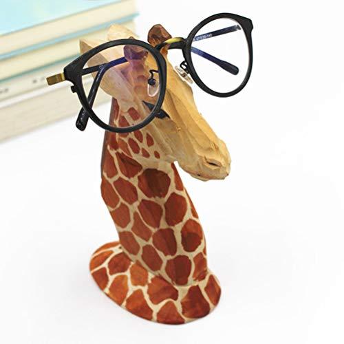 EisEyen Soporte para gafas de sol (madera), diseño de jirafa