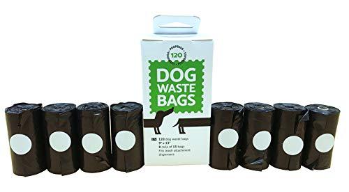 Poop Bags Dog Waste Bags 8 Rolls 120 Bags
