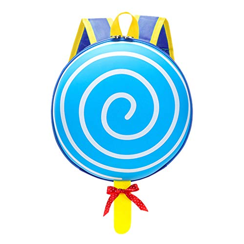 Qiuday Kleinkind Rucksack, Kinder Rucksack Schule Tasche für Baby Jungen Mädchen Kleinkinder Kind Kindergarten Rucksäcke Für Nylon Studenten Lollipop Einfach Mit Modischen Reißverschluss