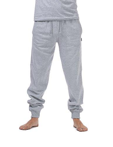 Pro Club Men's Jogger Fleece Long Pants, Large, Heather Gray