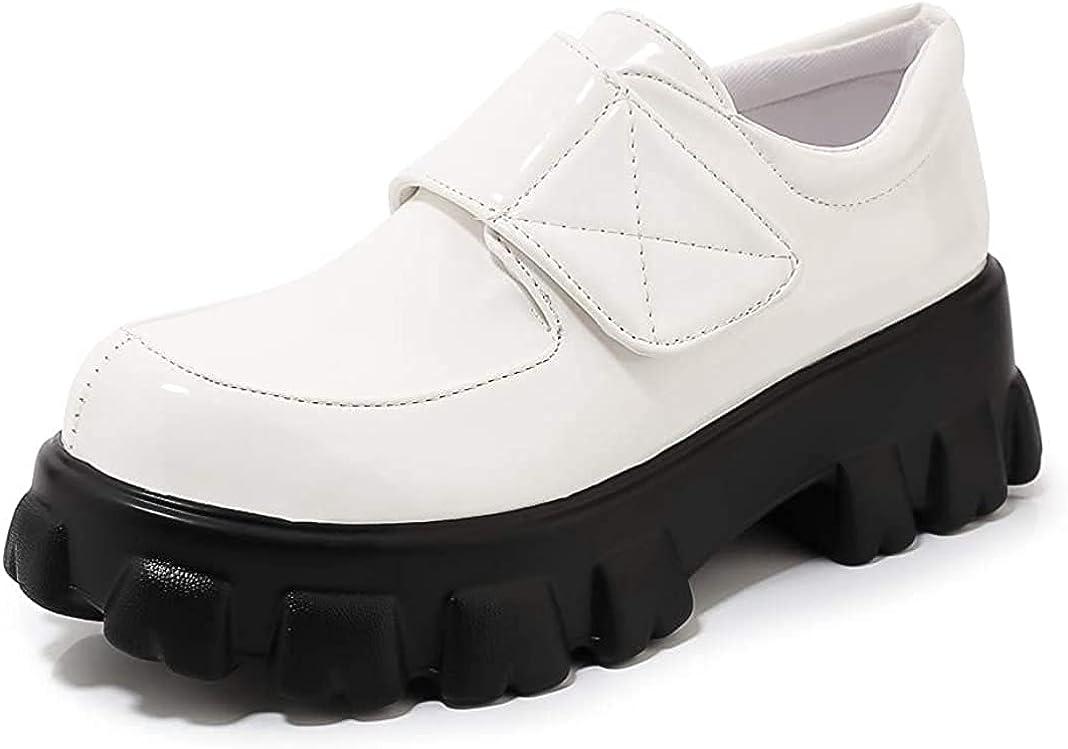 100% quality warranty Women's Phoenix Mall Platform Flat Oxfords Casual Hook Pla Low and Heels Loop