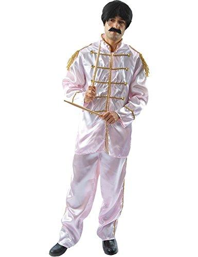 Déguisement Adulte Costume Homme Groupe de Musique Lonely Hearts – Rose