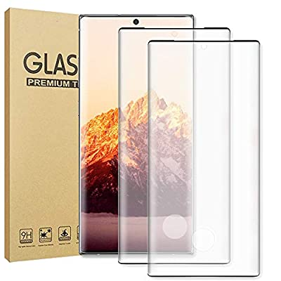 GBBC Glass Screen Protector for Samsung Galaxy Note 20 Ultra, 2 Pieces Tempered Glass 3D Full Coverage Support Fingerprint Sensor HD Clear Screen Protector for Note 20 Ultra (Note 20 Ultra 5G, 6.9 inch)