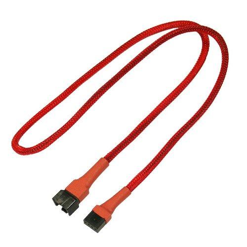 Nanoxia 900300012 4-Pin PWM Verlängerungskabel, 60 cm, Roter Sleeve