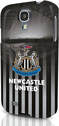 Newcastle United producto oficial de teléfono carcasa negro/blanco Samsung Galaxy S4 - nuevo teléfono móvil funda/Carcasa/escudo - negro y White/Newcastle United Football Club con tapa para Samsung Galaxy S4/Smartphone carcasa rígida negro y blanco/Newcastle United cict Galaxy S4 CASE