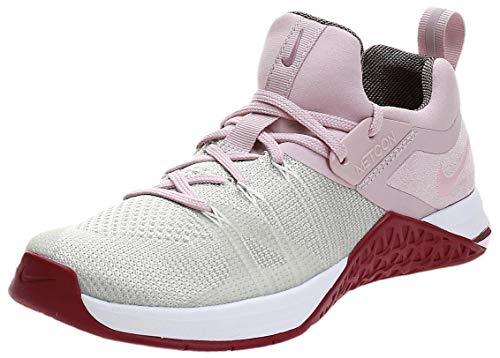 Nike Women's WMNS Metcon Flyknit 3 Fitness Shoes, Multicoloured (White/Plum Chalk/Matte Silver/True Berry 150), 5 UK