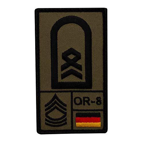 Café Viereck ® Stabsfeldwebel Bundeswehr Rank Patch mit Dienstgrad - Gestickt mit Klett – 9,8 cm x 5,6 cm