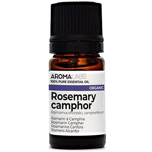 Romero Alcanfor BIO - 5ml - Aceite esencial 100% natural y BIO - calidad verificada por cromatografía - Aroma Labs