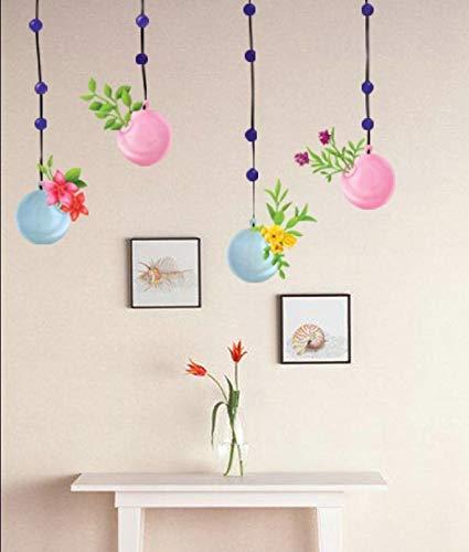 Etiqueta de la pared pegatinas papel tapiz extraíbleetiqueta de la habitación etiqueta de la casa vinilo la flor de la cesta del globo