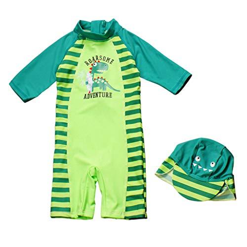 Kinder Badebekleidung Jungen UV Schutz Badeanzug Sunsuit Sonnenschutz Alles in eins Badeanzug Surfen Taucheranzug Schwimmen Anzug mit Badekappe