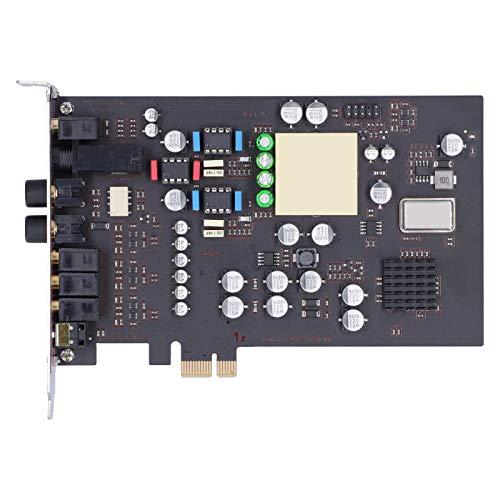 Scheda audio PCI-E 7.1-Surround Channel, con porta di uscita per cuffie professionale da 6,35 indipendente, 32 bit / 192 Khz Hi-Res, per desktop Modulo integrato Hi-Fi indipendente a 2.0 canali