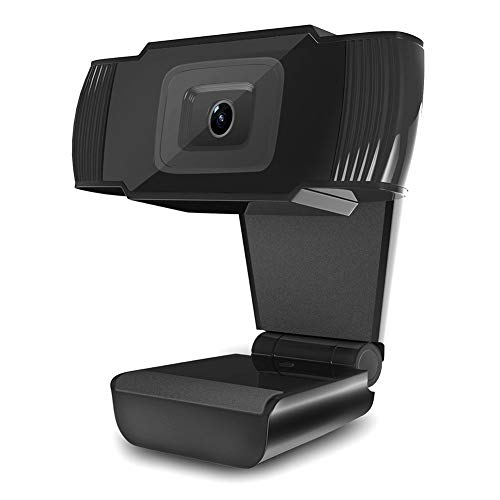 JSSEVN Full HD webcam, computer laptop camera voor PC, conferentie, videogesprek, pro stream webcam met plug and play video calling, USB-aansluiting, webcamera, ingebouwde microfoon, ingebouwde microfoon