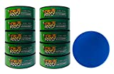 Hooch Herbal Snuff Wintergreen Fine Cut 10 Cans with DC Crafts Nation Skin Can Cover - Blue