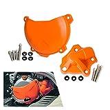 YITAOW Protector de la Bomba de Agua de la protección del Embrague de la Motocicleta Fit para KTM 250 350 SXF ExcF XCF XCFW (Color : Set)