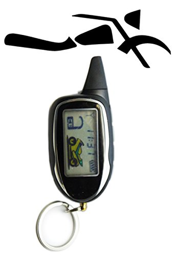 Sykik SRT208 Rider 2-Way Motorcycle Alarm with LCD Pager Remote, Remote Engine Start and Shut Off, with Motion, Sensor, tilt Sensor and Shock Sensor. with one Year SYKIK Warranty