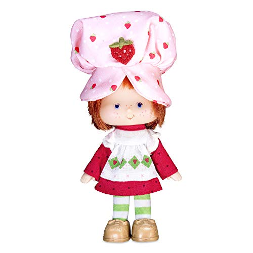Stawberry Shortcake 12340 Classic Strawberry Shortcake 40th Anniversary Small 15,2 cm Scented Doll-12340 Toy Doll, Mehrfarbig