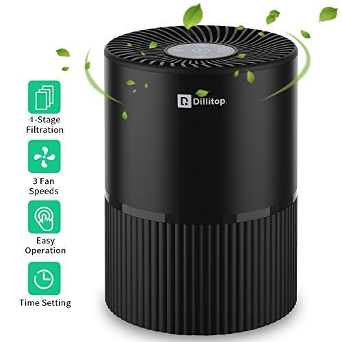 Luftreiniger mit HEPA Filter, USB Negatives Ion Air Purifier mit Nachtlicht und Timer für 99,97{6cdab79db58c8785d3d5e52a2590840cb813a5106b4e550a7386ae60efd42407} Filterleistung, Entfernt Pollen, Rauch, Gerüche usw, Ideal für Allergiker, Asthma, Raucher